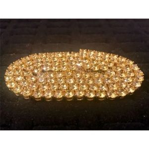 Harlembling 14k Gold 4mm Tennis Chain Necklace